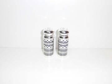 Pfeffer und Salz Streuer versilbert 7 cm