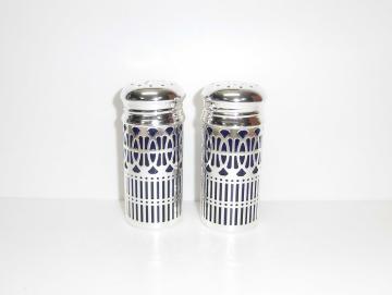 Pfeffer und Salz Streuer versilbert 9 cm
