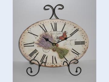Uhr mit Lavendel Motiv