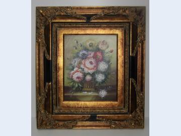 Ölgemälde Blumenmotiv Barockrahmen