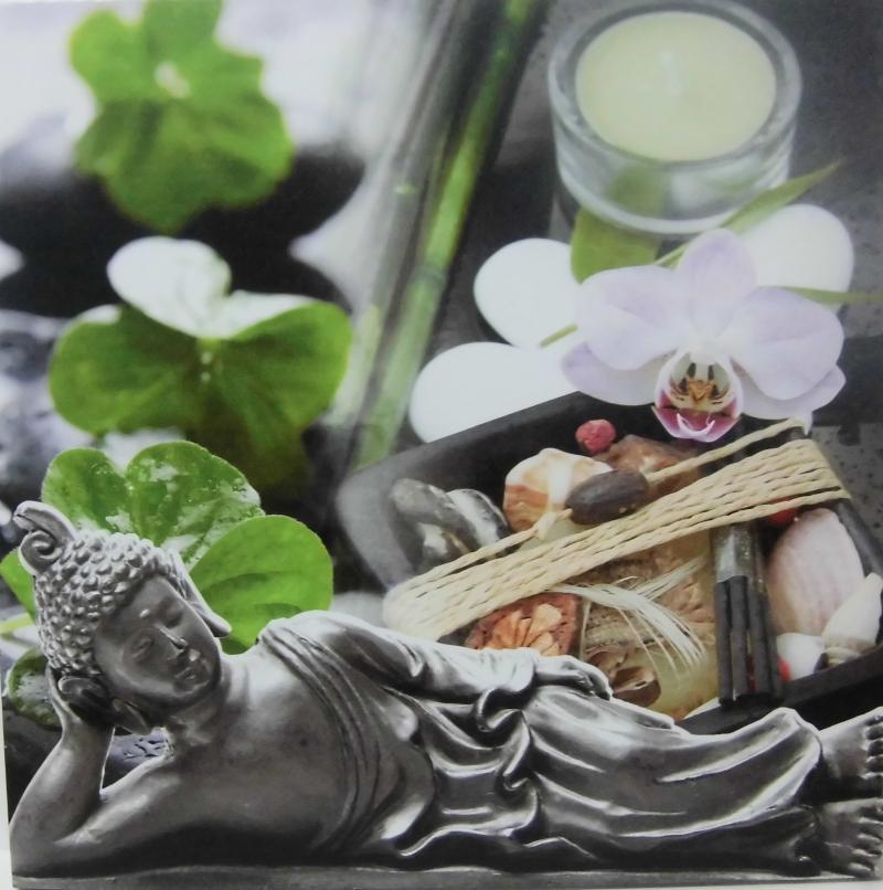 Wandbild Buddha liegend
