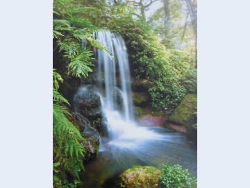 Wandbild Wasserfall
