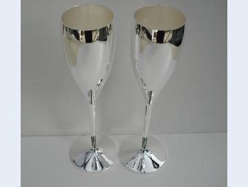 Sektglas Sektkelch versilbert