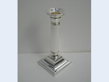 Kerzenständer versilbert 23 cm hoch