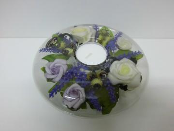 Teelichthalter Lavendel
